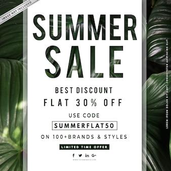 Banner di vendita estiva