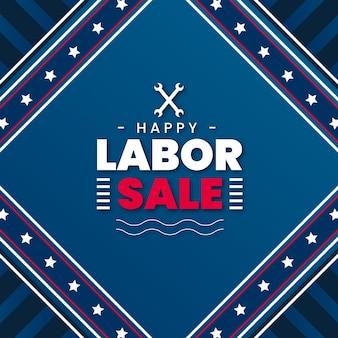 Banner di vendita festa del lavoro