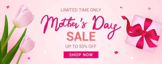 Banner di vendita festa della mamma