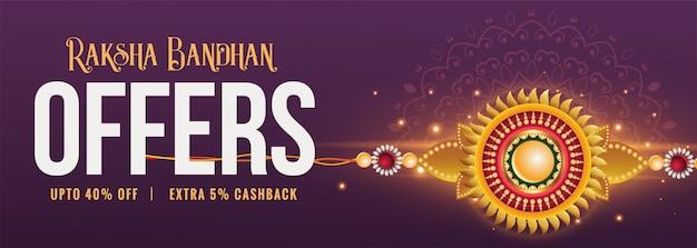 Banner di vendita festival raksha bandhan