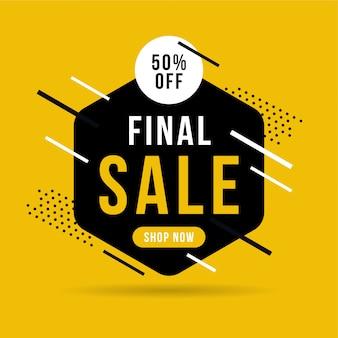Banner di vendita finale, fino al 50% di sconto.