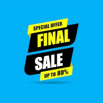 Banner di vendita finale