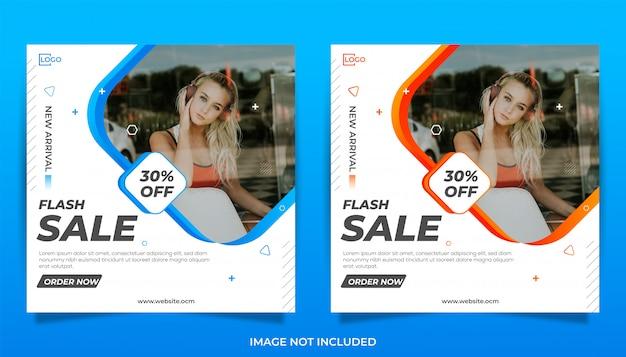 Banner di vendita flash per social media e copertina