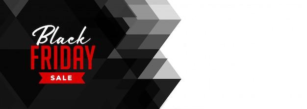 Banner di vendita geometrica venerdì nero
