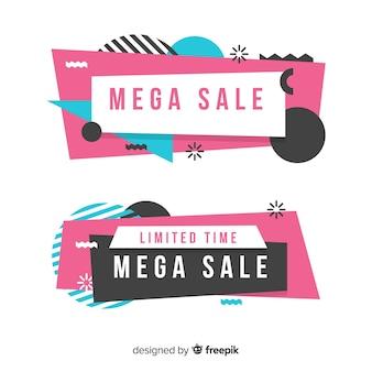 Banner di vendita geometrica