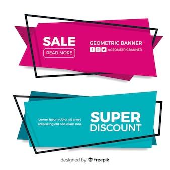 Banner di vendita geometrici