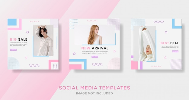 Banner di vendita geometrico per social media.