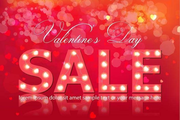 Banner di vendita giorno di san valentino