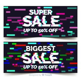Banner di vendita glitch