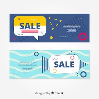 Banner di vendita goemetric