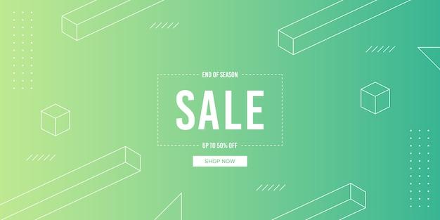 Banner di vendita gradiente