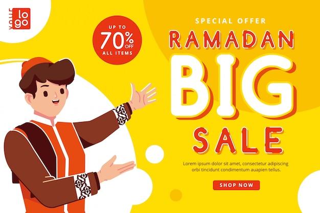 Banner di vendita grande ramadan