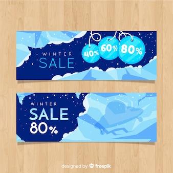 Banner di vendita invernale di ghiaccio