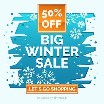 Banner di vendita invernale