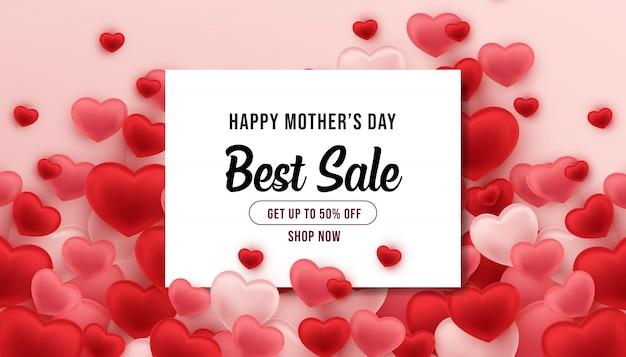 Banner di vendita migliore festa della mamma felice