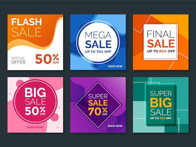 Banner di vendita moderna per i social media