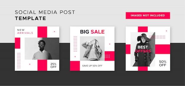 Banner di vendita moderna per post web e social media