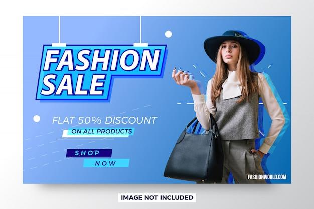 Banner di vendita moderna vendita moda