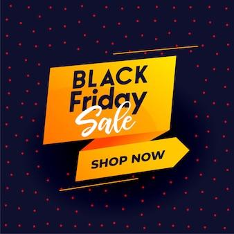 Banner di vendita moderna venerdì nero per lo shopping online