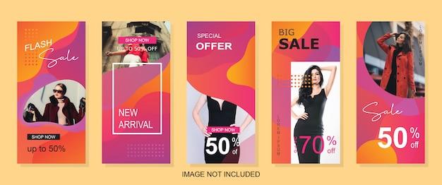Banner di vendita moderna verticale per il web o la storia di instagram