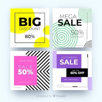 Banner di vendita moderni per i social media