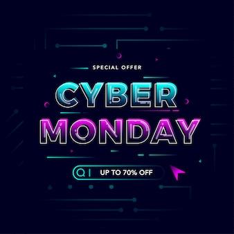 Banner di vendita moderno cyber monday