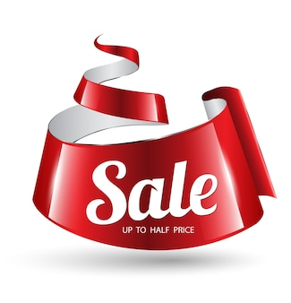 Banner di vendita nastro rosso