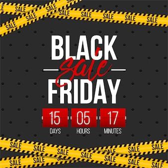 Banner di vendita offerta venerdì nero.