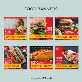 Banner di vendita pazzo quadrato con pacchetto fotografico