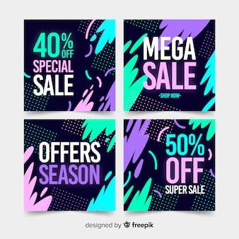 Banner di vendita per i social media