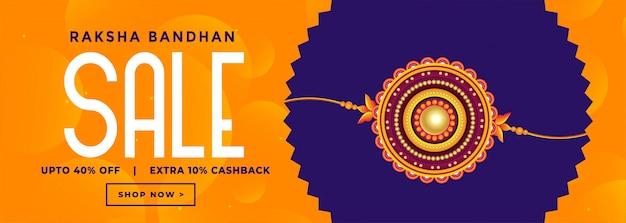 Banner di vendita per il festival raksha bandhan