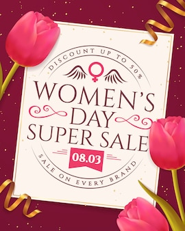 Banner di vendita per la festa della donna.