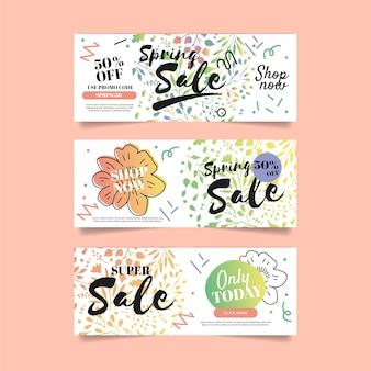 Banner di vendita per la primavera