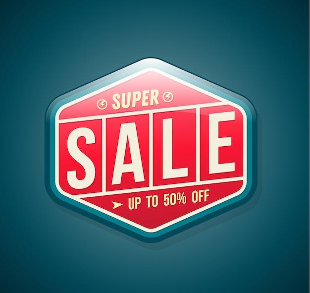 Banner di vendita per la pubblicità promozionale.