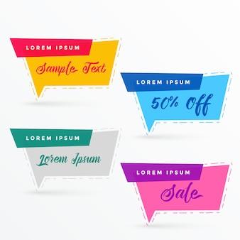 Banner di vendita piatto in forma di bolla di chat