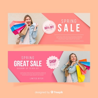 Banner di vendita primavera fotografica