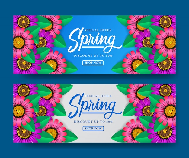 Banner di vendita primavera stagione