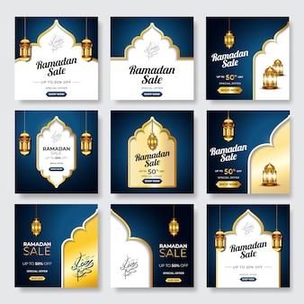 Banner di vendita ramadan collezione