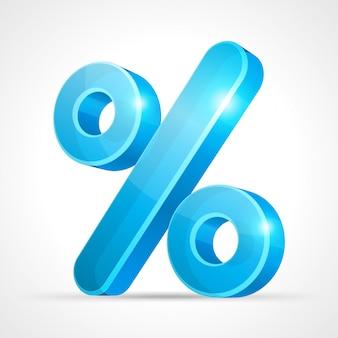 Banner di vendita simbolo sconto percentuale