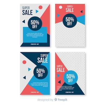 Banner di vendita social media con pacchetto fotografico