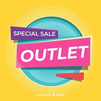 Banner di vendita speciale presa