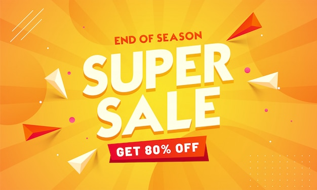 Banner di vendita super. fine di stagione