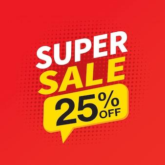 Banner di vendita super