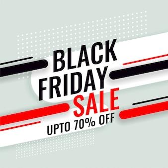 Banner di vendita venerdì nero con dettagli dell'offerta