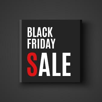 Banner di vendita venerdì nero. pacchetto. illustrazione.