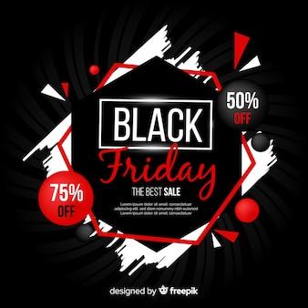 Banner di vendita venerdì nero sfumato