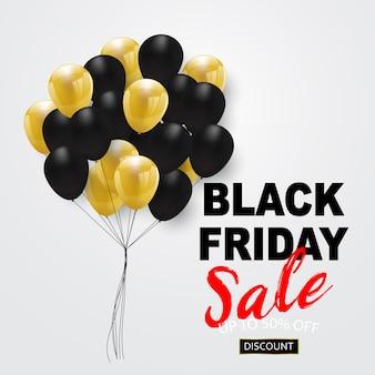 Banner di vendita venerdì nero,