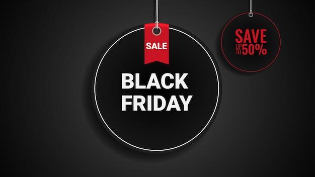 Banner di vendita venerdì nero