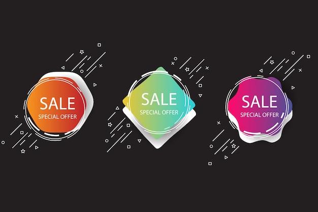 Banner di vendita vettoriale