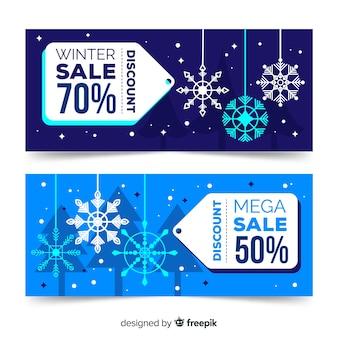 Banner di vendite invernali